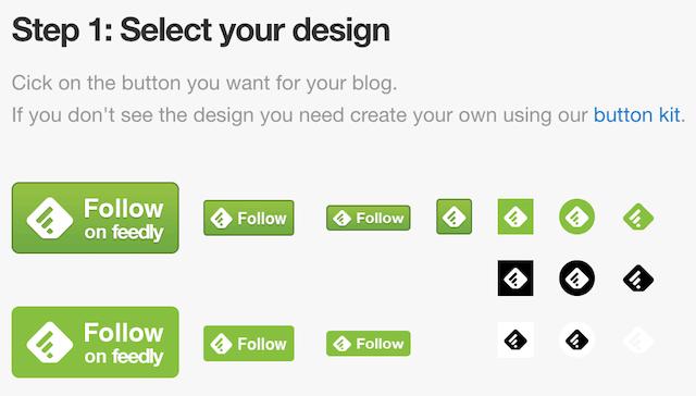 añadir feedly blog