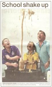 Principal For a Day - Ruben Meerman (Bundaberg News Mail)