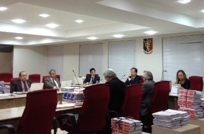 TCE em sessão plenária (Foto: TCE-PB)