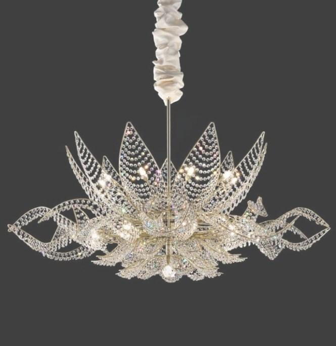 Chic Simple Glass Chandelier Lu Murano Silver Mirror Finish Inside Modern