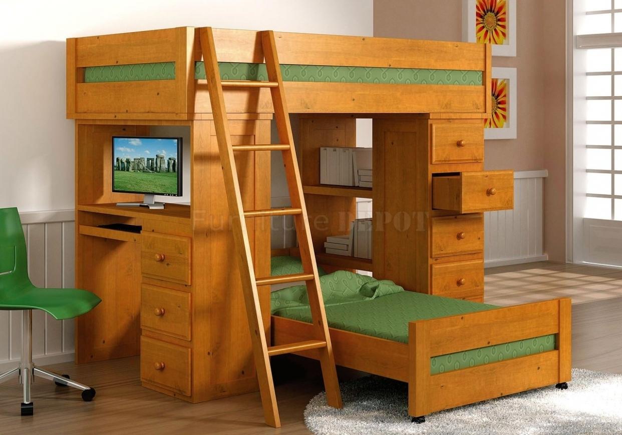 Ikea Desk Bunk Bed Novocom Top