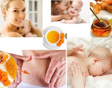 Uống tinh bột nghệ sau sinh