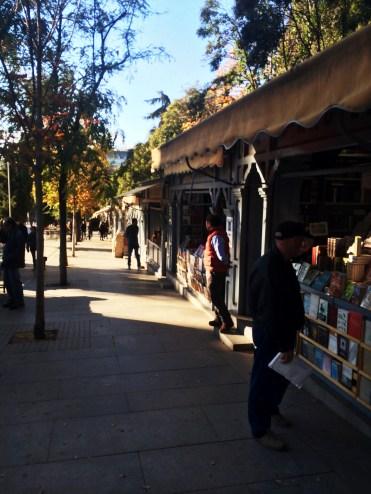 Mercado de libros // Book Market, right beside Retiro Park.
