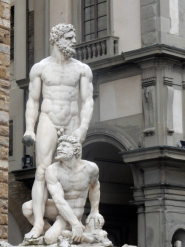 Statue of Hercules representing the might of the Medici