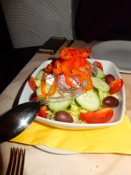 Delicious Greek salad to start. Nothing like living in Spain to get you craving fresh vegetables, my friends.