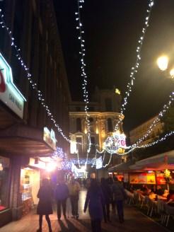 Christmas lights near Tirso de Molina.