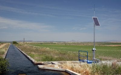 FlumeGate Offtake in Small Irrigation Canal, Orellana Spain