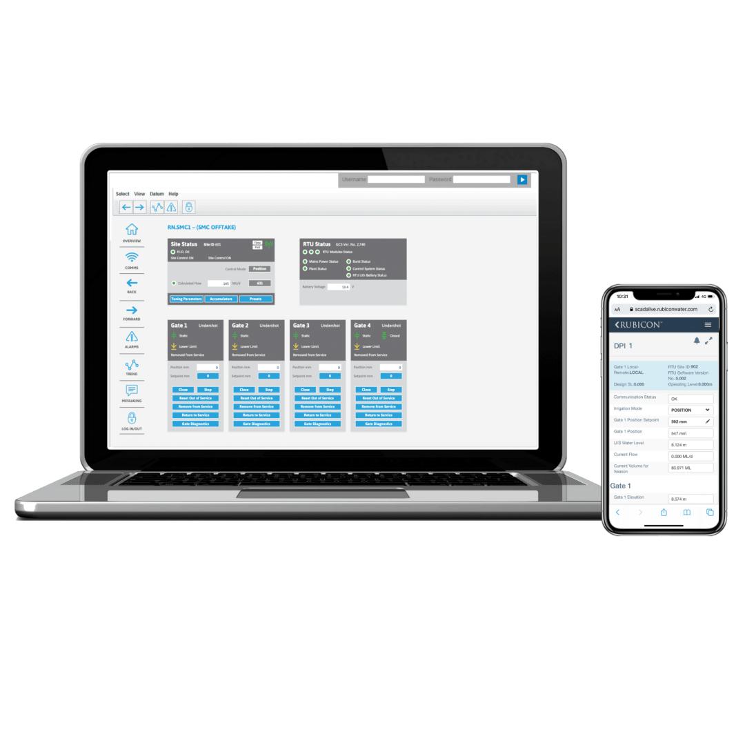 SCADAConnect - Una solución verdaderamente móvil diseñada para su uso en el terreno desde cualquier dispositivo móvil.