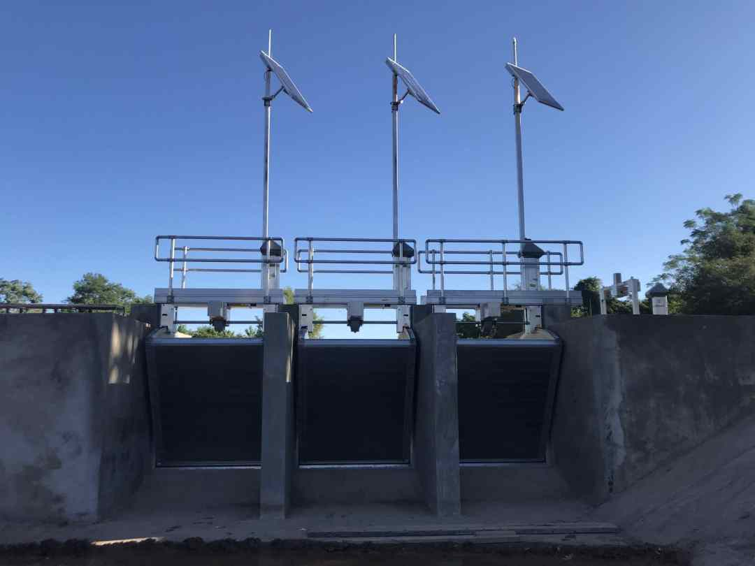 FlumeGates installed for Automation project in Argentina