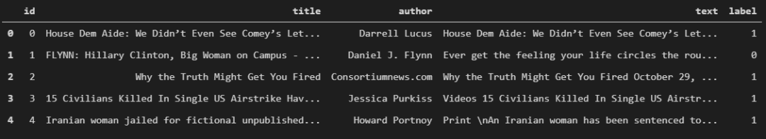 Fake News Dataset Data