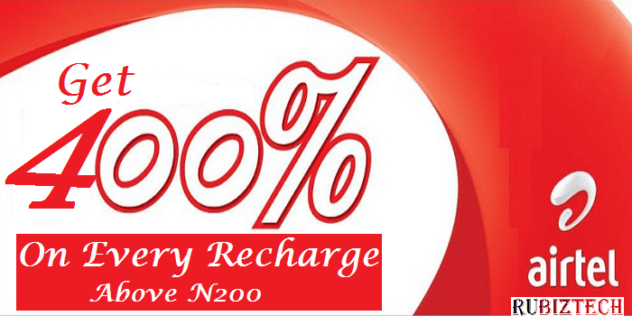 Airtel 400% Bonus Offer