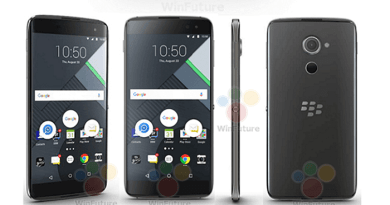 Blackberry DTEK60 leaked Images courtesy WinFuture