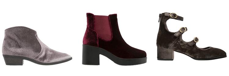 fluwelen schoenen
