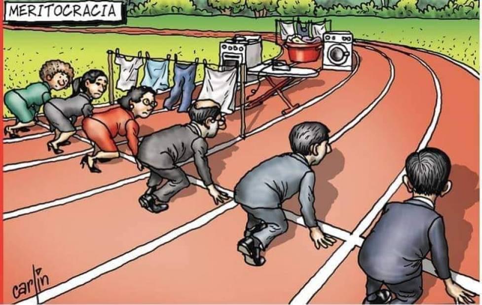 жінки і дівчатка в науці карикатура