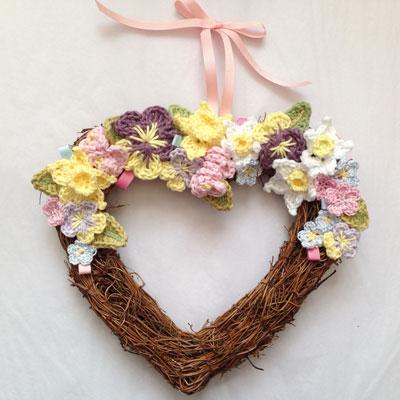 Spring Crochet Flower Hearts Ruby Amp Custard