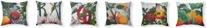 Ruby Charm Colors Garden Goods pillow collection