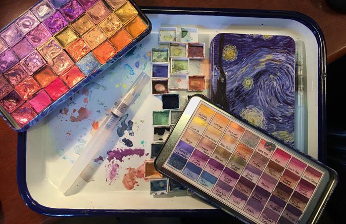 Karen Spencer handmade mica watercolors_RubyCharmColors