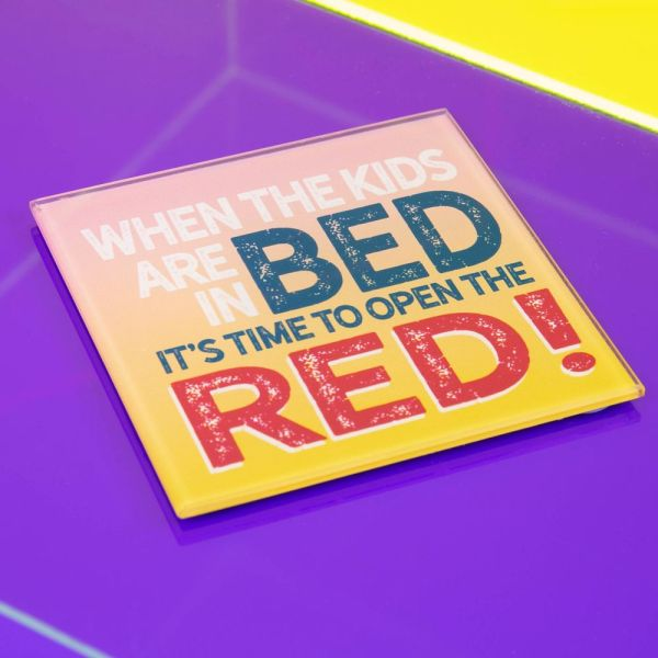 Kids In Bed Open The Red Coaster