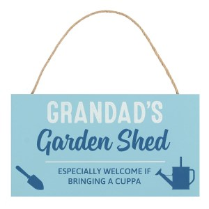 Grandads Garden Shed Plaque