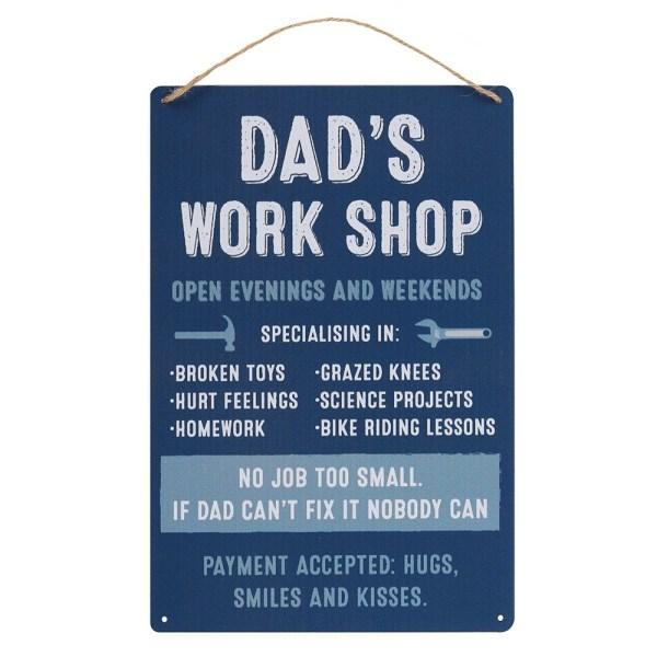Dads Workshop Hanging Metal Sign