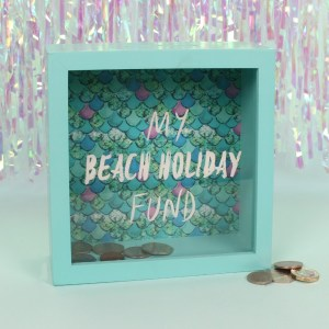 my beach holiday fund savings box