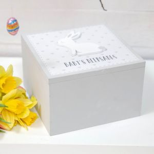 Grey Bunny Baby Keepsake Memory Box