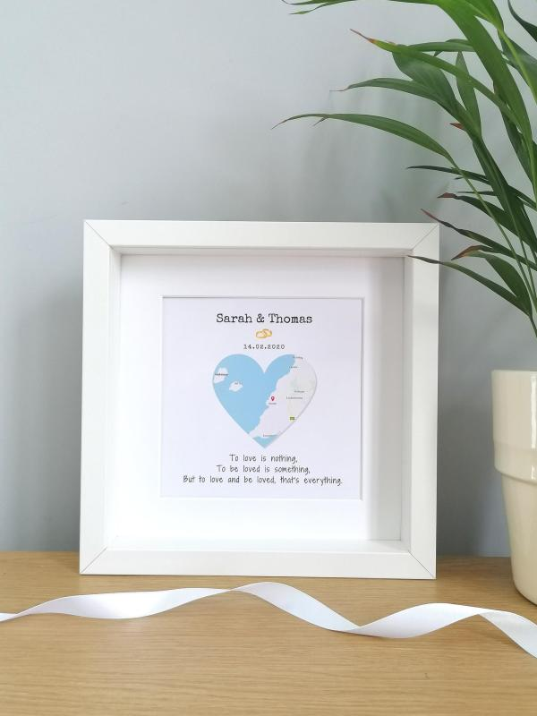 Personalised Framed Map Wedding Gift
