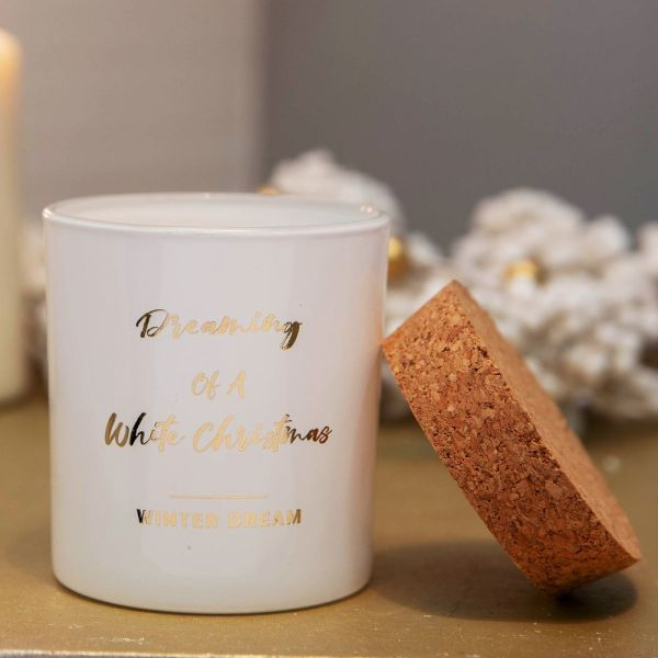 Dreaming Of A White Christmas Candle