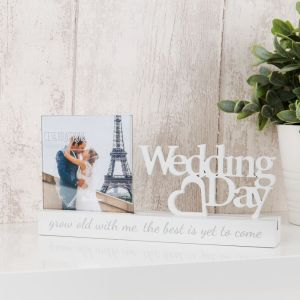 Wedding Day Cut Out Photo Frame