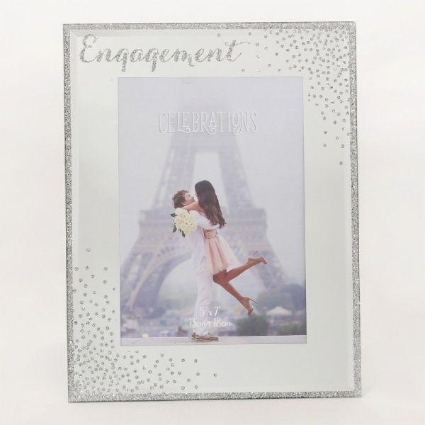 Glass Sparkle Engagement Frame