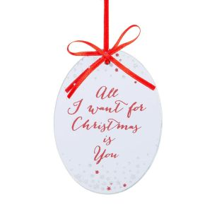 All I Want Is You Mirror Glass Hanging Decoration