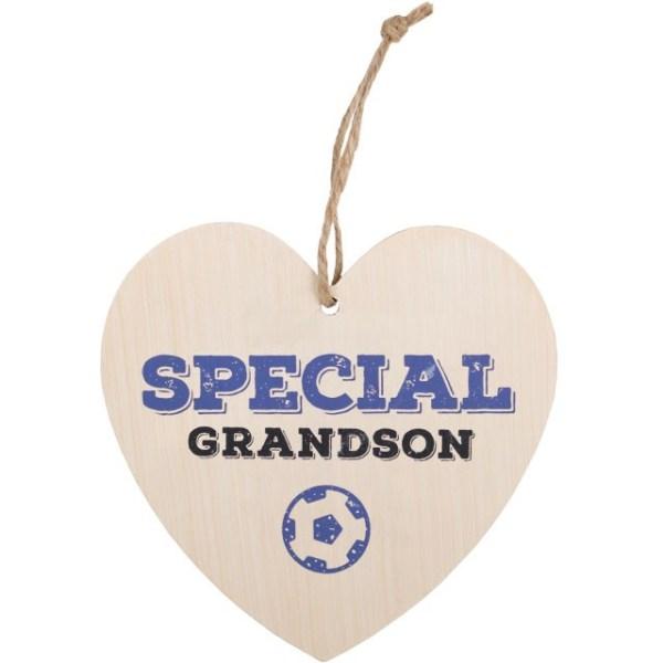 Special Grandson Hanging Heart Sign