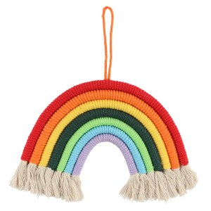 Colourful String Rainbow Wall Hanging