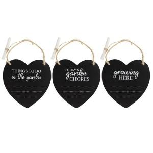 Garden Hanging Heart Chalkboard Plaque