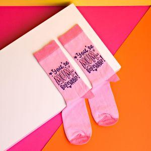 Mum-believable Cheerful Pink Socks