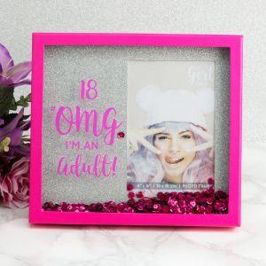 18 OMG I'm An Adult Glitter Photo Frame