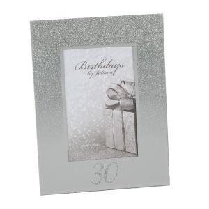 30th Birthday Glitter Mirror Frame