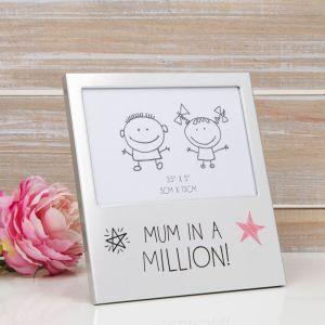Mum In A Million Aluminium Photo Frame