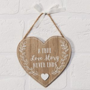 A True Love Story Heart Plaque
