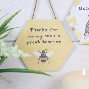 Thank You Teacher Bee Plaque