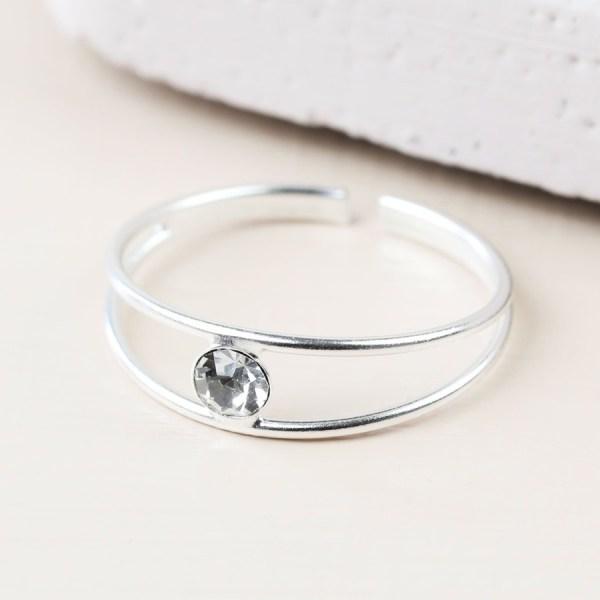 Sterling Silver Diamante Toe Ring