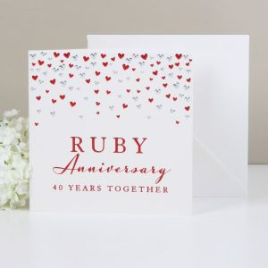 Deluxe Ruby Anniversary Card