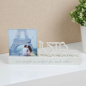Cut Out Engagement Photo Frame