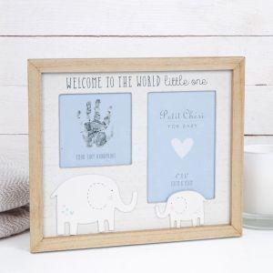 Baby Handprint Blue Photo Frame