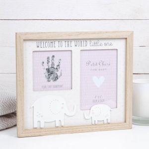 Baby Handprint Pink Photo Frame
