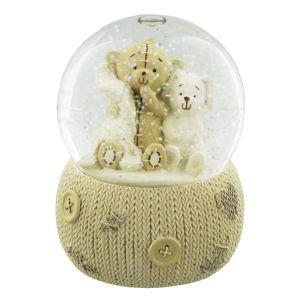 Glitter Teddy Bear Baby Snowglobe