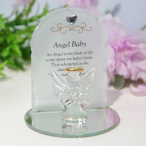 Angel Baby Glass Memorial Ornament