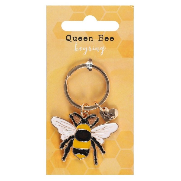 Queen Bee Metal Keyring