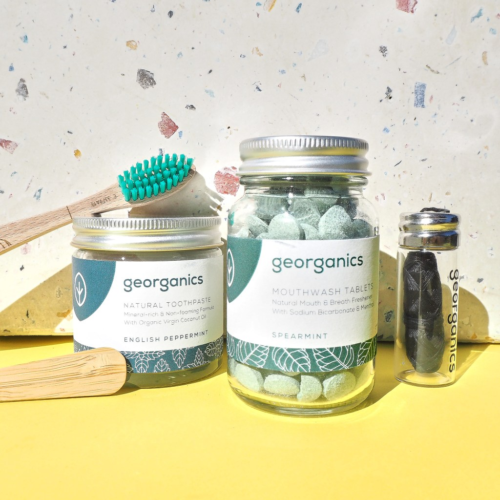 collect of natural toothcare products by georganics