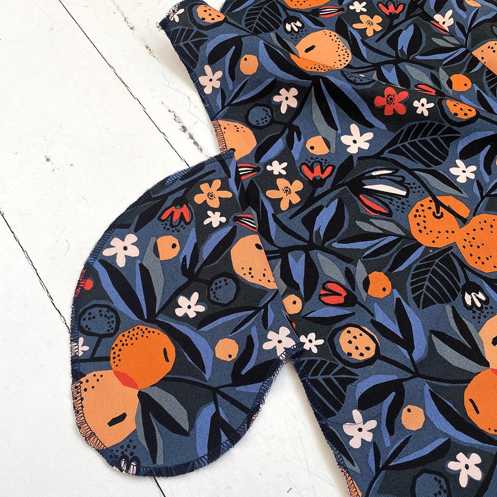 close up of shorts dungarees pocket construction